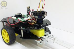 پروژه راه اندازی ربات تشخیص مانع با استفاده از سنسور مادون قرمز