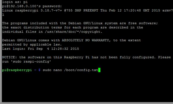 دستور ویرایش فایل افزایش جریان USB در رزبری پای Raspberry Pi
