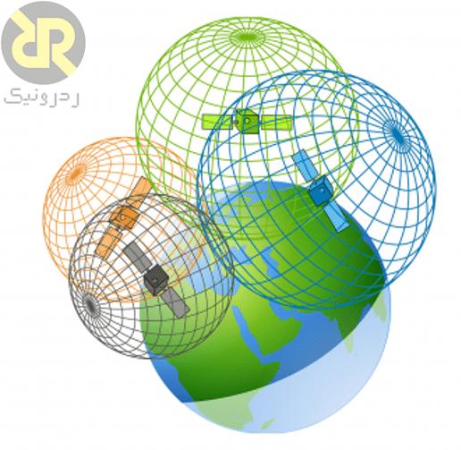 مکان هندسی حاصل از چهار ماهواره GPS