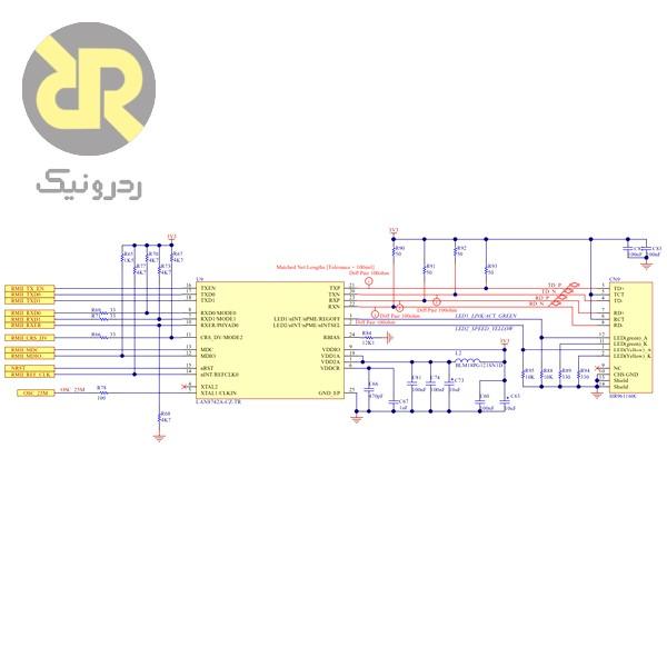 شماتیک آی¬سی Tranciever در بورد STM32f746Discovery