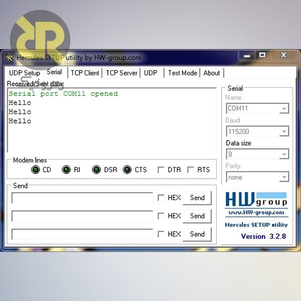 نمایش داده ارسالی ببه کامپیوتر هنگام فشردن دکمه