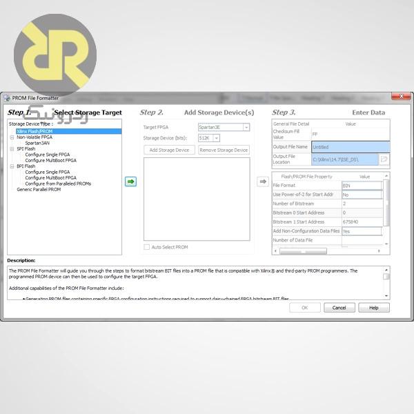 شکل 21- پنجره PROM File Formatter