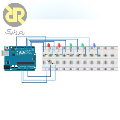 Leds and arduino redronic