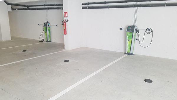 نقاط پارکینگ خودکارسازی شده برای خودروی برقی