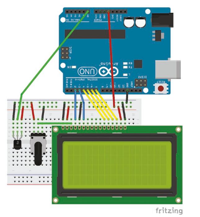 سنسور دما و LCD
